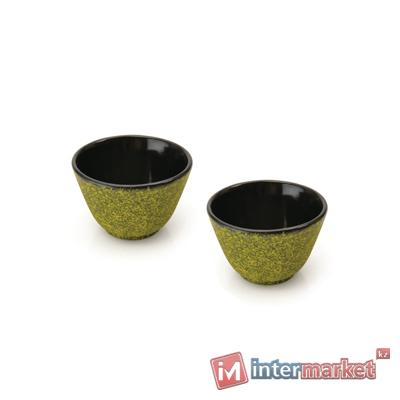 Набор чашек для чая чугунных BergHOFF лаймовые, 2 шт (1107055)