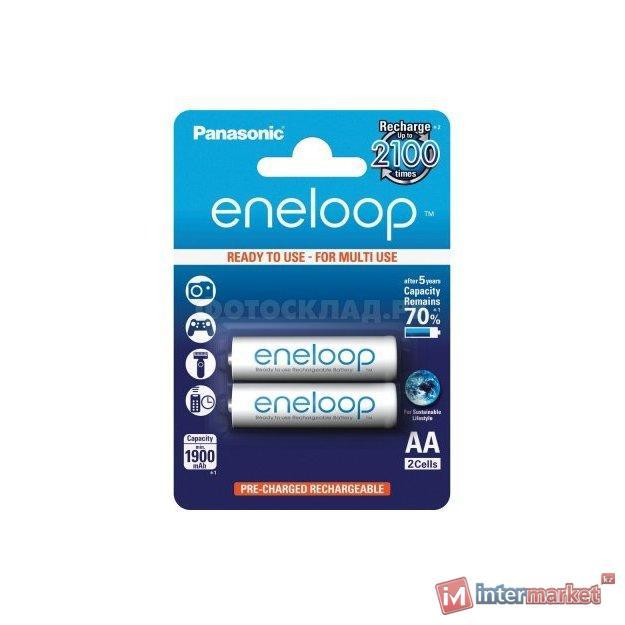 Аккумулятор PANASONIC Eneloop AA 1900 mAh/2B /