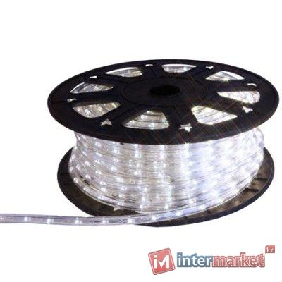 Гирлянда роуп лайт (дюралайт) 45м холоднобелая кабель черный 1,8м стартовая Ropelight d12,5мм бухта 36диодов/м LED outdoor